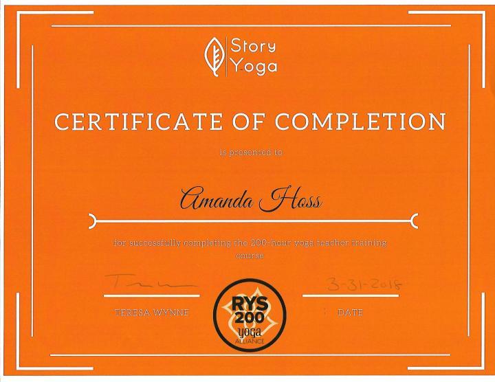 33118 Story Yoga YTT cert